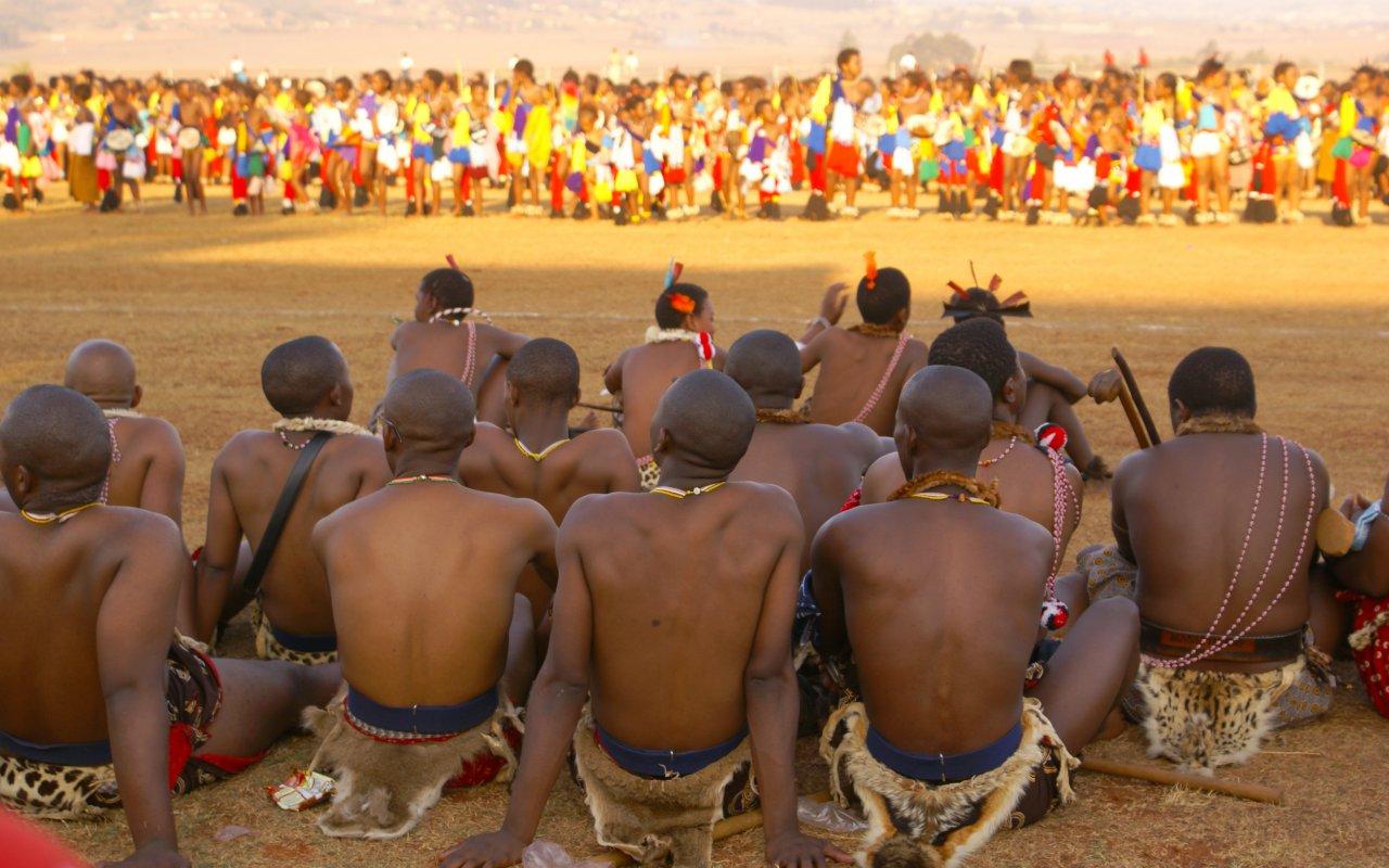 danse des roseaux - swaziland