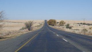 Route pour le village de Morija - voyage lesotho - terra south africa